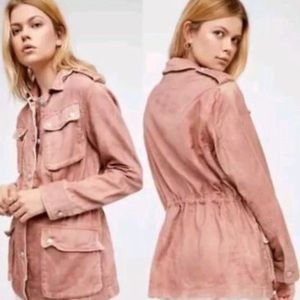 Free People Not Your Brother's Surplus Jacket Sz L